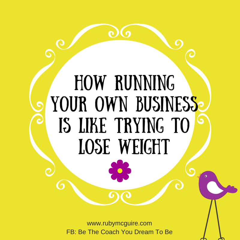 Running Your Own Business Is Like Trying To Lose Weight