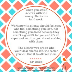 Don't Settle For Wrong Clients #Niching